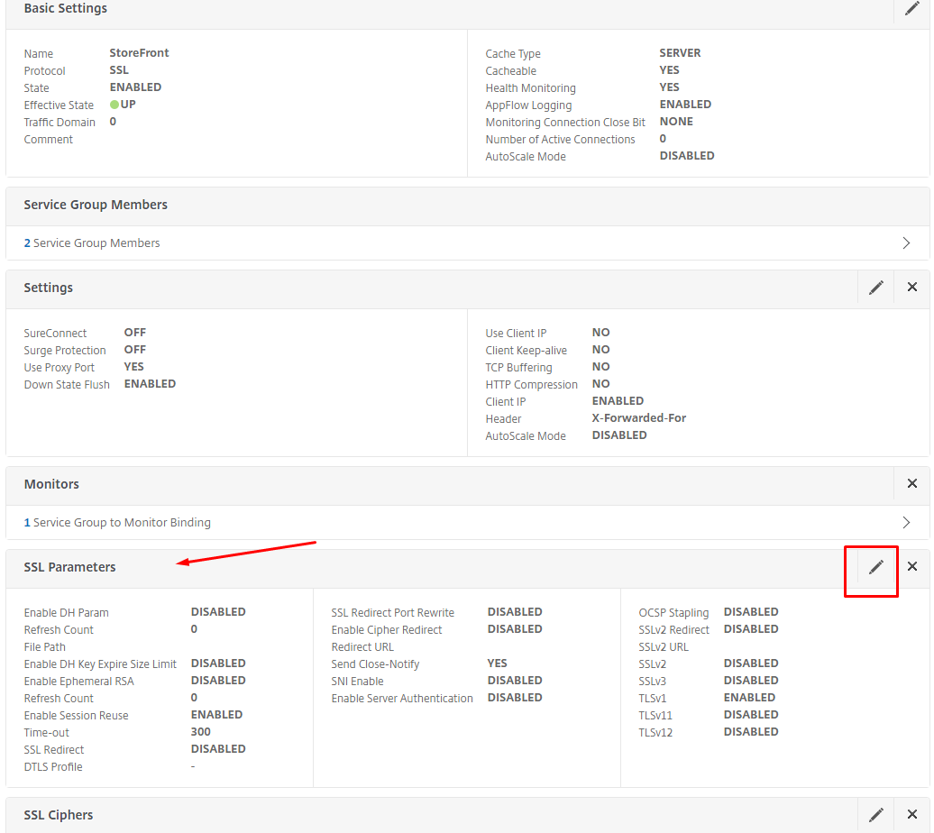 Ssl connection from netscaler to iis back end breaks vikash click on the edit icon on the ssl parameters horizontal bar 1betcityfo Gallery