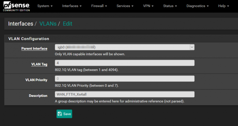 pfSense with routed IPTV and OpenVPN client for private internet access creating_vlans